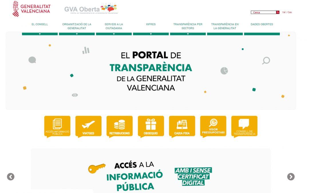 El Plan de Seguridad Vial de la Generalitat Valenciana, en el portal de transparencia