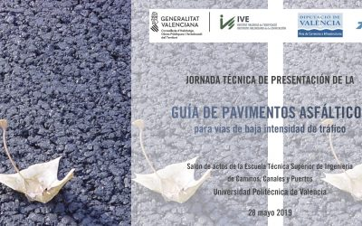 La Guía de pavimentos asfálticos para vías de baja intensidad de tráfico se presenta en Madrid y Valencia