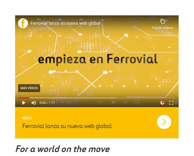 Ferrovial renueva su web, mejorando la experiencia del usuario y actualizando su diseño