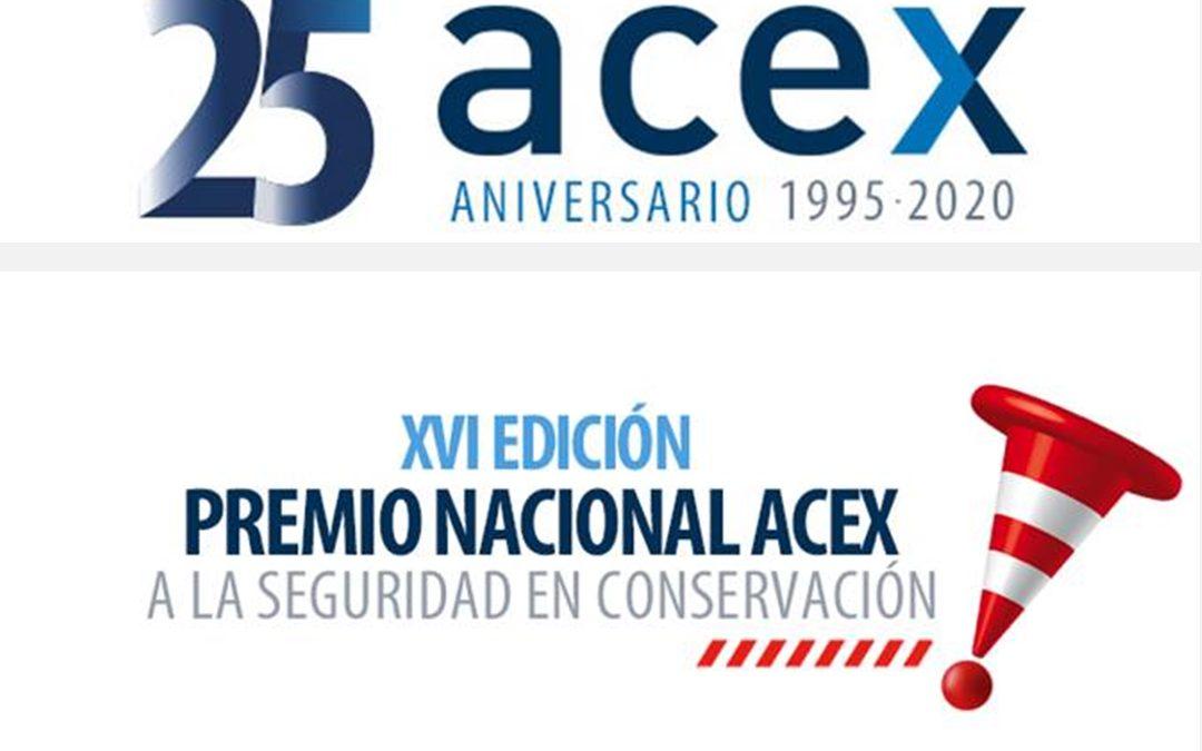 Convocado el XVI Premio Nacional ACEX a la Seguridad en Conservación