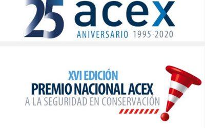 ACEX pospone las fechas de celebración de su Premio Nacional a la Seguridad en Conservación