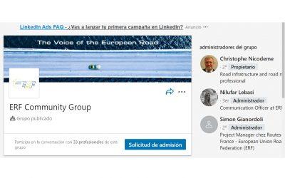 La ERF crea un grupo propio de Linkedin para reforzar la comunicación con sus miembros