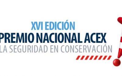 El XVI Premio Nacional ACEX se pone de nuevo en marcha y se entregará el 17 de septiembre