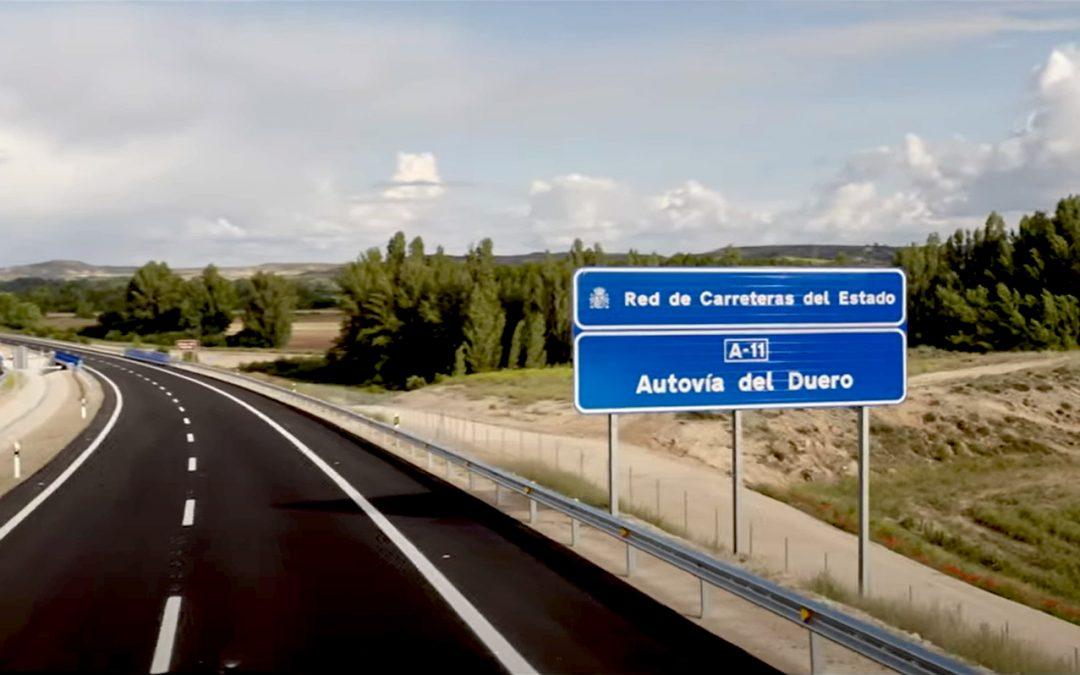Entra en servicio el tramo de la A-11 entre San Esteban de Gormaz y Langa de Duero, ejecutado por Azvi