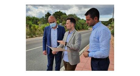 El Consell d'Eivissa presenta las mejoras realizadas en la carretera Sant Rafel – Santa Agnès – Sant Mateu