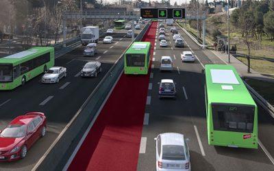 Mitma aprueba definitivamente los proyectos para la implantación del carril Bus-VAO en la autovía A-2 en Madrid