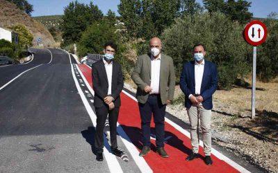 Diputación de Córdoba mejora la seguridad vial en la CO-8202 que une Almedinilla con aldeas de Los Ríos y Sileras