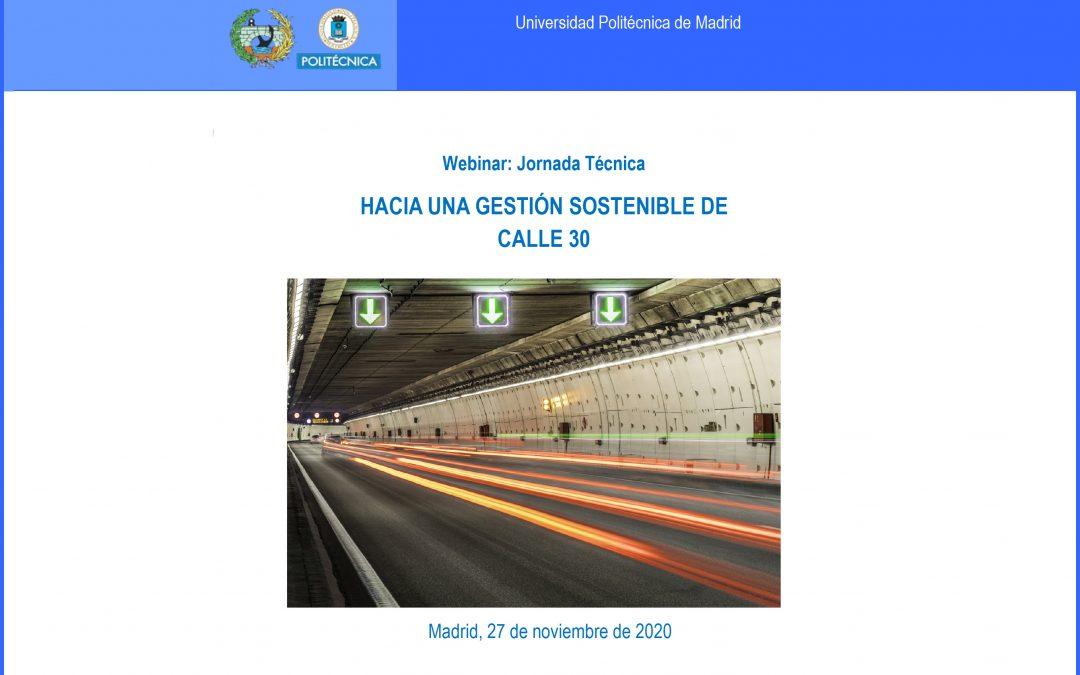 El 27 de noviembre, webinar Hacia una gestión sostenible de Calle 30
