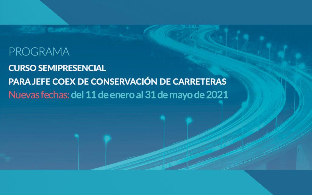 Nueva edición del curso para Jefe Coex de Conservación de Carreteras