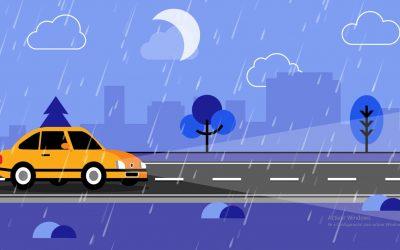 Marcas viales retrorreflectantes de 3M para mejorar la seguridad vial con lluvia