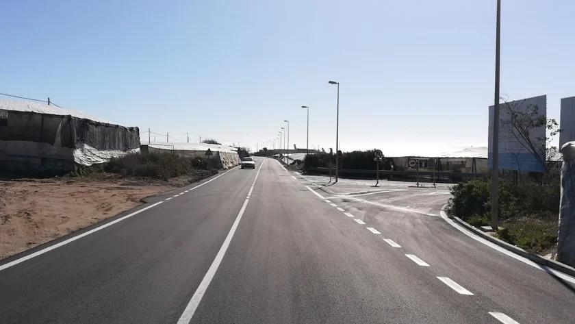 La Diputación de Almería culmina la mejora en la carretera que conecta Balerma y Balanegra