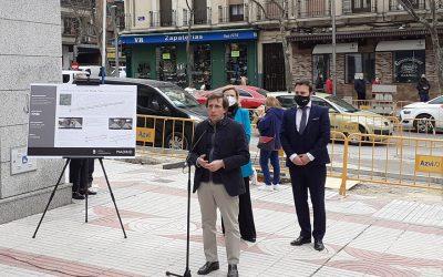 El alcalde de Madrid visita las obras de Azvi en la calle Alcalá