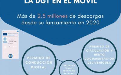 La aplicación miDGT cumple un año con más de 2,5 millones de descargas