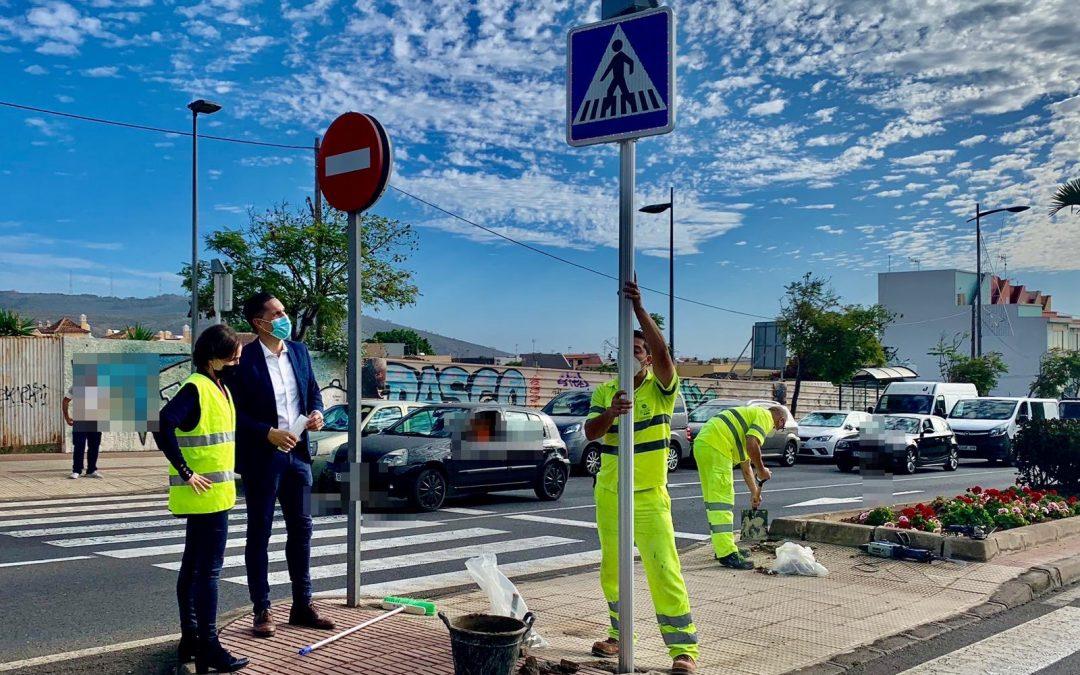 Villar Grupo Empresarial: señalización de pasos de peatones con led mediante energía solar en La Laguna