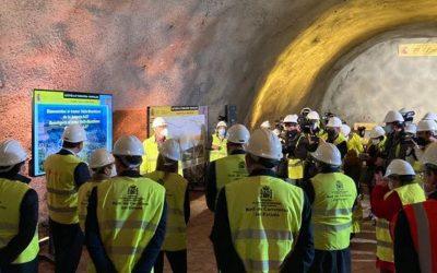 Ábalos asiste al fin de la excavación del túnel de Lilla, en Tarragona, ejecutado por ACCIONA