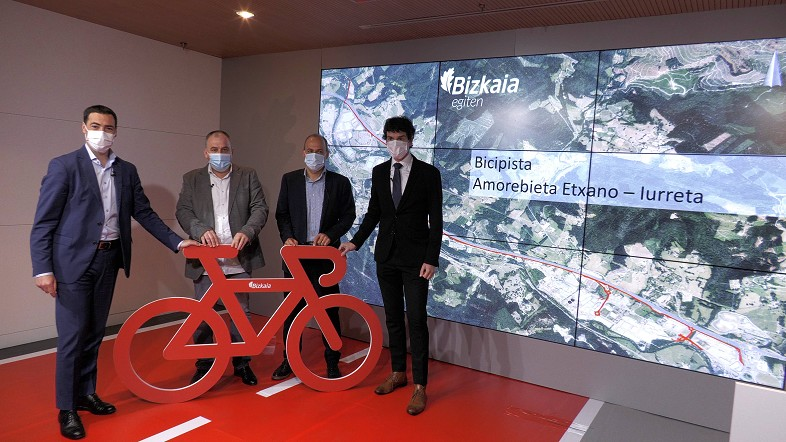 La primera bicipista de Bizkaia, entre Amorebieta y Iurreta, estará en servicio en 2023