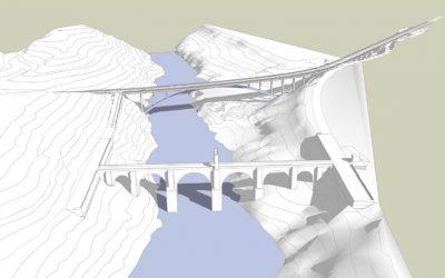 Nuevo puente sobre el río Tajo en la EX-117, en Alcántara