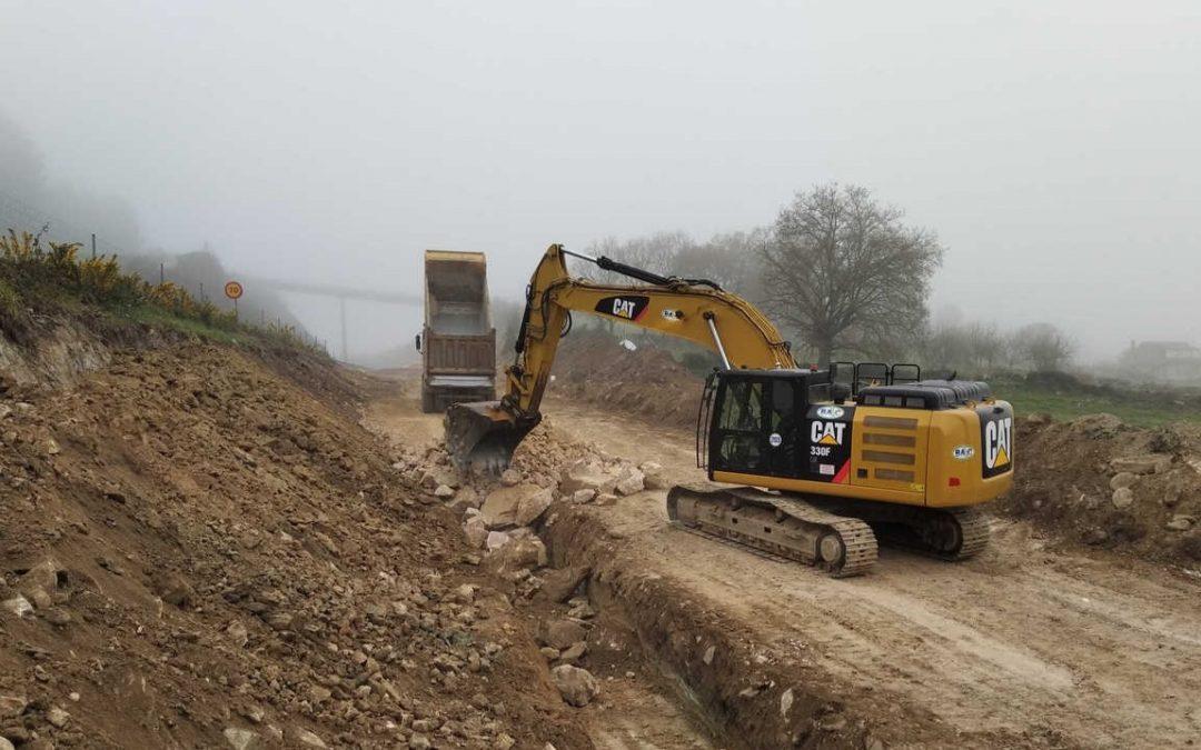 El desdoblamiento del corredor Nadela-Sarria, en Lugo, avanza con la construcción de terraplenes