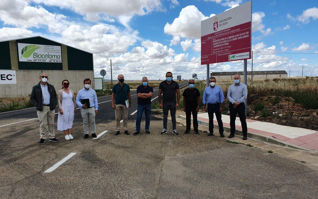 La Diputación de León invierte 589.000 euros en el arreglo de la vía que une Santas Martas y San Román