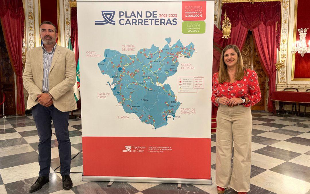 Nuevo plan de carreteras de la Diputación de Cádiz: casi 5 millones en 41 actuaciones