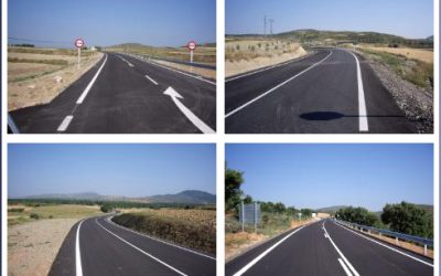 El Gobierno de La Rioja invierte 1,2 millones en el ensanche y mejora de la LR-123 entre Grávalos y Rincón de Olivedo